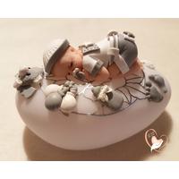 Veilleuse galet lumineux bébé garçon - au coeur des arts