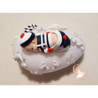 Veilleuse galet lumineux bébé garçon marin - au coeur des arts