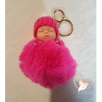 Porte clés ou bijou de sac bébé doudou - au cœur des arts