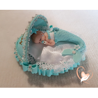 Veilleuse couffin lumineux bebe sirene fille - au coeur des arts