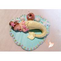 Porte bougie anniversaire bébé fille sirène - au coeur des arts