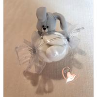 Bonbonnière ou boîte à dragées petit lapin - au coeur des arts