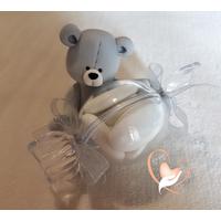 Bonbonnière ou boîte à dragées petit ours- au coeur des arts