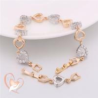 Bracelet coeur plaqué or - au coeur des arts