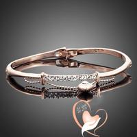 Bracelet plaqué or rose avec petit coeur sur chaine - au coeur des arts