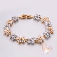 Bracelet plaqué or et plaqué argent-au coeur des arts