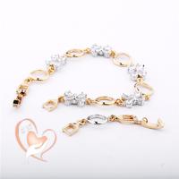 Bracelet plaqué or petits noeuds - au cœur des arts