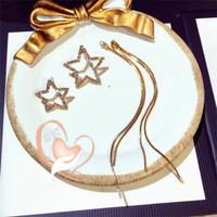 Boucles d'oreille étoiles plaqué or- au cœur des arts