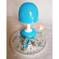 101B-au coeur des arts-Veilleuse lampe lumineuse sur socle en bois bebe fille