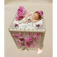 Tirelire enfant bébé fille - au coeur des arts