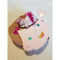 Boîte à dents de lait bébé fille avec son lapin - au coeur des arts
