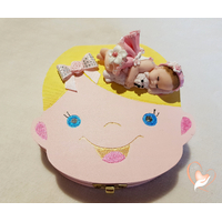 Boîte à dents de lait bébé fille avec son ours - au coeur des arts