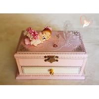 Boîte à musique rose bébé fille - au coeur des arts