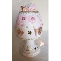 Lampe de chevet blanche bébé fille fée clochette - au cœur des arts