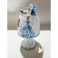 Veilleuse lampe de chevet bébé fille cendrillon - au coeur des arts