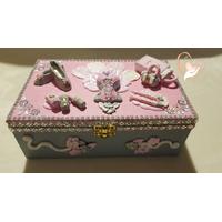 Boîte à bijoux femme rose et grise - au coeur des arts
