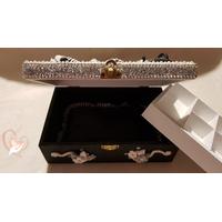 Boîte à bijoux femme noire et blanche - au cœur des arts