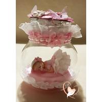 Veilleuse bébé fille dans sa bulle - au coeur des arts