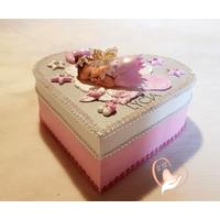 Boîte de naissance bébé fille fée clochette - au coeur de arts