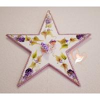 1B-Étoile lumineuse plaque de porte bébé fille - au cœur des arts
