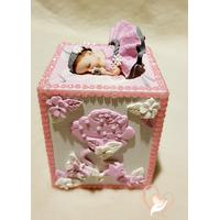 Tirelire enfant bébé fille - au cœur des arts