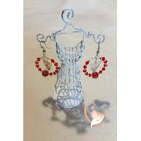 Boucles créoles perles de cristal