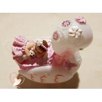 Veilleuse en forme de cygne bébé fille - au cœur des arts