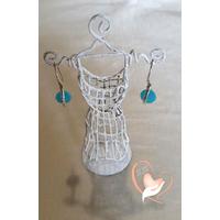 Boucles d'oreille argent perle de cristal