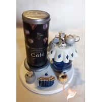 Plateau café et sucrier ou pot à confiture- au coeur des arts