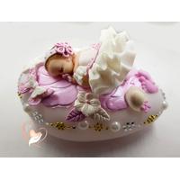 Veilleuse Galet lumineux bebe fille-au coeur des arts