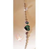 Bracelet argent  cœur cristal swarovski - au coeur des arts