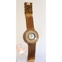 Montre plaqué or bracelet multi rangs - au cœur des arts