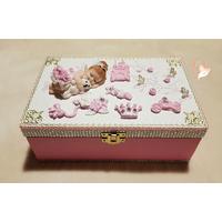 Boîte à bijoux ou à secrets bébé fille princesse - au coeur des arts