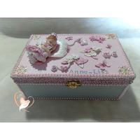 Boîte à bijoux ou à secrets bébé fille - au coeur des arts