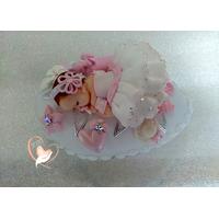 Veilleuse galet lumineux bébé fille - au cœur des arts