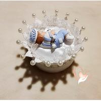 CD9-au-coeur-des-arts-couronne boîte à dragées bebe garçon fimo