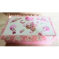 Boîte à souvenirs bébé fimo fille rose et blanche - au coeur des arts
