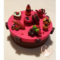 Boîte à gâteaux framboise chocolat
