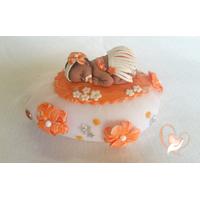 Veilleuse galet lumineux bébé tahitienne