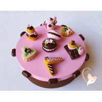 Boîte à gâteaux rose et choco