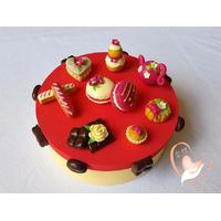 Boîte à gâteaux framboise et vanille