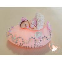 Veilleuse Galet Lumineux bébé fille rose