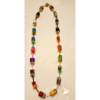 Collier perles polaris multicolors