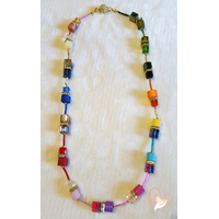 Collier perles polaris multicolore - plaqué or