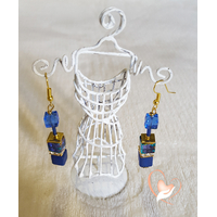 Boucles d'oreille pendantes perles polaris plaqué or