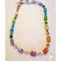 40-Collier perles polaris multicolore - au coeur des arts