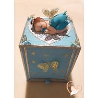 Tirelire enfant bébé fille petite fée bleue - au coeur des arts