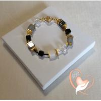 Bracelet Kenya plaqué or - au coeur des arts