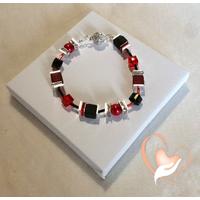 Bracelet Stendhal rouge et noir- au coeur des arts