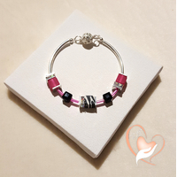 Bracelet élégance Rose argent- au coeur des arts